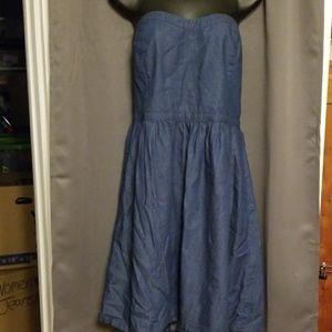 Old Navy strapless denim dress size 14
